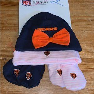 Chicago Bears Baby Girls hats booties new